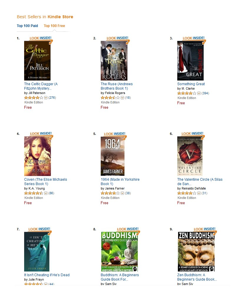 Top 5 in US Kindle Store